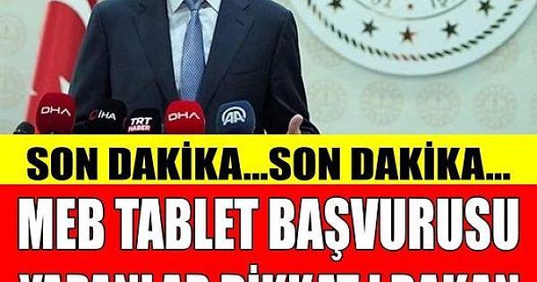 MEB Tablet Başvurusu Yapanlar Dikkat !
